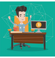successful promotion of new cryptocurrency startup vector image vector image