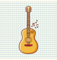 the guitar is a musical instrument image vector image vector image
