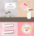 Valentines Day scrapbook elements vector image