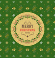 vintage christmas greeting card typographic retro vector image