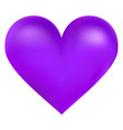 violet color big heart vector image vector image