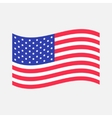 Waving American flag icon Isolated Whte vector image