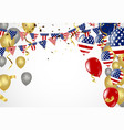 4th of july american independence day decorations vector image vector image