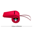 A Red Whistle of Antigua and Barbuda vector image