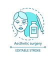 aesthetic surgery concept icon