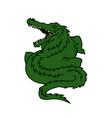alligator cartoon mascot character fat gator icon vector image