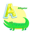 alligator children alphabet vector image vector image