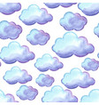 aquarelle seamless pattern with clouds vector image