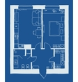 Architecture blueprint plan vector image