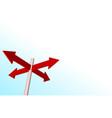 arrow corner vector image vector image