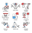 Assembly Icon Set vector image vector image