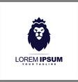awesome lion king logo design vector image vector image