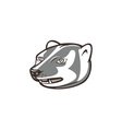 Badger Head Side Isolated Cartoon vector image vector image