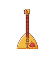 balalaika russian folk musical instrument vector image