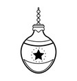 ball tree decoration christmas related icon image vector image