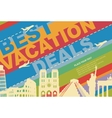 banner for a travel agency vector image