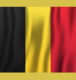 belgium realistic waving flag national country vector image vector image