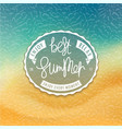 best summer styled coast background vector image