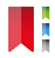 bookmark icon set vector image