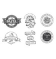 branding italian restaurant logo trattory vector image vector image
