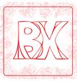 BX monogram vector image vector image