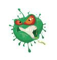 cartoon evil coronavirus vector image vector image