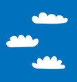 clouds set sign 405 vector image vector image