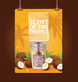 coconut tropical organic food nutrition exotic vector image