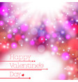 colorful blur happy valentine day card background vector image vector image