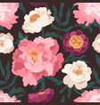 colorful seamless pattern with blooming garden vector image vector image
