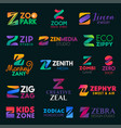 company business identity z letters vector image vector image