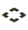corners circle road elements vector image vector image