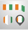 cote d ivoire ivory coast flag design set vector image vector image
