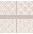 Damask floral textile light creamy pattern vector image vector image