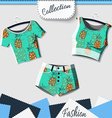 Design clothes with prints of pineapples vector image vector image
