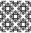 Design seamless monochrome flower pattern vector image vector image