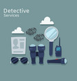 detective services flat vector image vector image