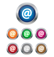 Email buttons vector image vector image