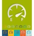 Flat design speedometer vector image