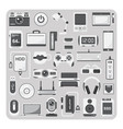 flat icons laptop set vector image vector image