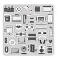 Flat icons laptop set