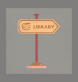 flat shading style icon sign library vector image vector image