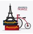 France design eiffel tower landmark vector image vector image
