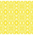 geometric art deco pattern in bright yellow vector image
