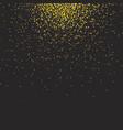 gold glittering bokeh stars dust vector image vector image