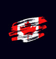 grunge textured canadian flag vector image