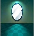 Grungy room with mirror vector image vector image