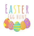 happy easter egg hunt background vector image vector image