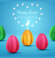 happy easter paper origami vector image vector image