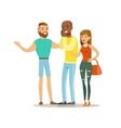 Happy Three Best Friends Having Good Time Together vector image vector image